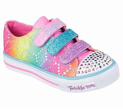 Twinkle Toes Skechers Rainbow Shuffles Shoes Mlt
