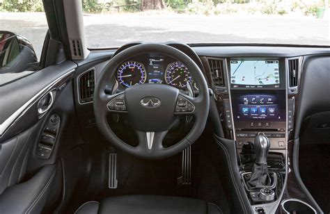 infiniti q50 interior car review 2014 infiniti q50 hybrid premium awd driving
