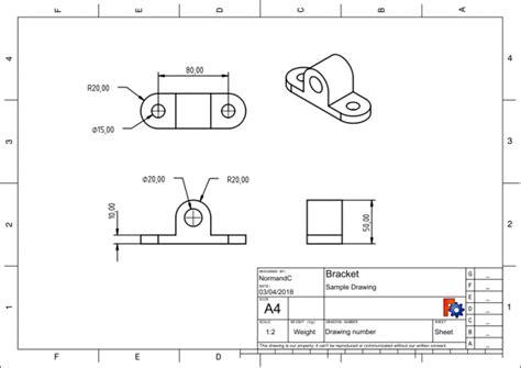 technische zeichnung ansichten techdraw arbeitsbereich technisches zeichnen freecad documentation