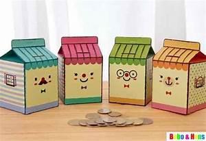 new diy milk storing coin box piggy bank