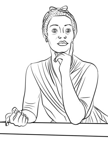 phillis wheatley coloring page  printable coloring pages