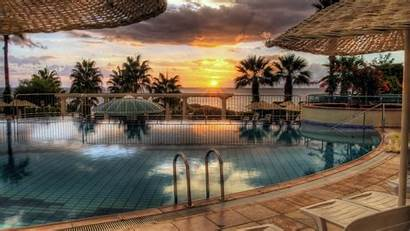 Pool Sunset Swimming Wallpapers Desktop Backgrounds