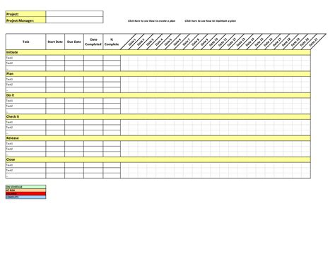 simple project plan template project