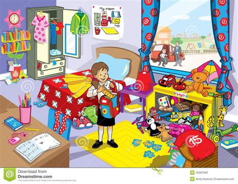 dans sa chambre fille d 39 école dans sa chambre à coucher désordonnée