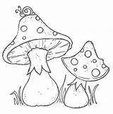 Mushroom Coloring Drawing Toadstools Stamps Mushrooms Colouring Sheets Digital Patterns Snail Printable Embroidery Gnomes Drawings Adult Wood Cogumelo Google Magnolias sketch template