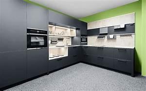 L kuche greenline zerox hpl carbon for L ufer küche