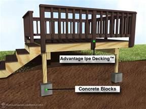 deck designs free standing deck design