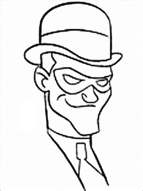Batman Riddler Coloring Pages