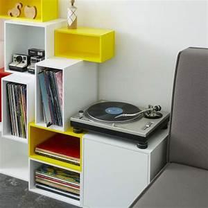 Meuble Pour Vinyle : meuble vinyle quel mod le choisir pour un int rieur au look vintage ~ Teatrodelosmanantiales.com Idées de Décoration