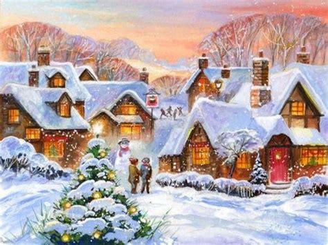 Vintage Karácsonyi Téli Tájak
