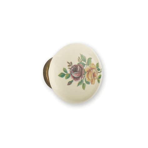 bouton de meuble de cuisine bouton porcelaine et métal fleur