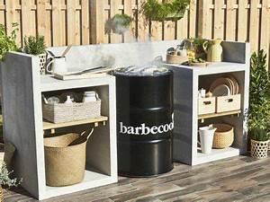 Decoration Barbecue Jardin Idee Deco Parterre Jardin