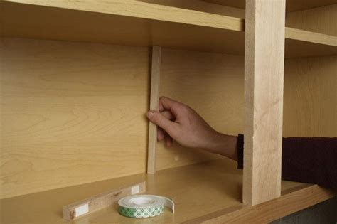 kitchen cabinet shelf support how to