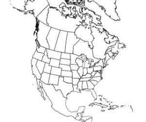 outline map  north america north america map map