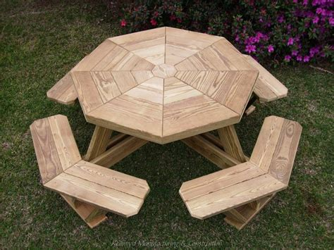 octagon picnic table designs woodworking projects plans