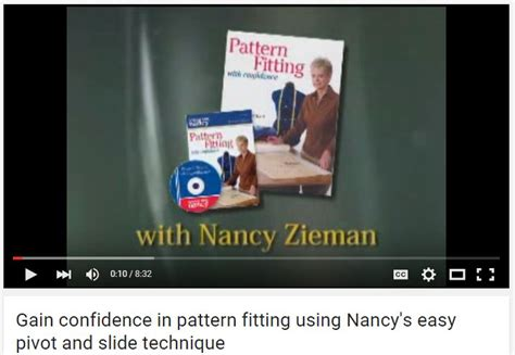 pattern fitting with confidence learn pattern ease zieman zieman productions llc