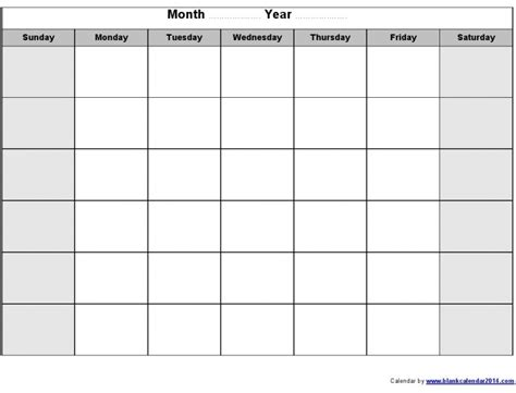 fill in calendar template fill in printable monthly calendar free calendar template
