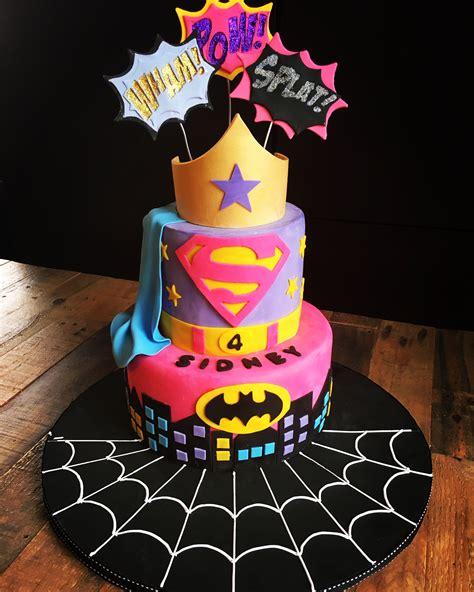 super hero cake  girls superherocake