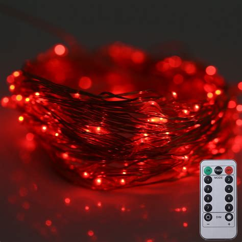 led string lights with remote 10m 100 leds battery operated decorative string light with