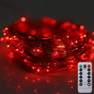10M 100 LEDs Battery Operated Decorative String Light with ...