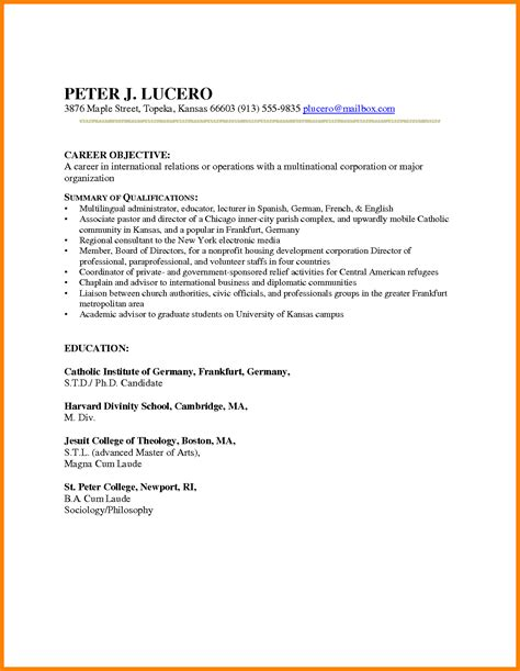 Career Change Resume Template by 6 Career Change Resume Templates Dialysis