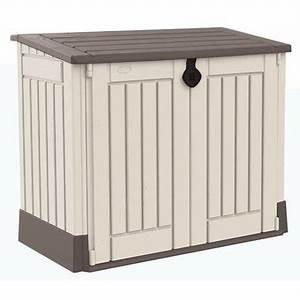 Armoire De Rangement Exterieur Brico Depot : coffre de poubelle dans armoire et coffre de jardin ~ Dailycaller-alerts.com Idées de Décoration