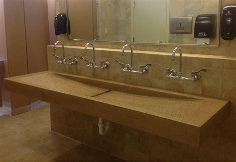 Trough Sink-custom Bathroom Trough Sink Designs For