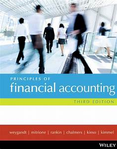 Principles Of Financial Accounting  3rd Edition