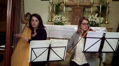 Air On The G String Duo Harp & Violin Wedding Music Umbria