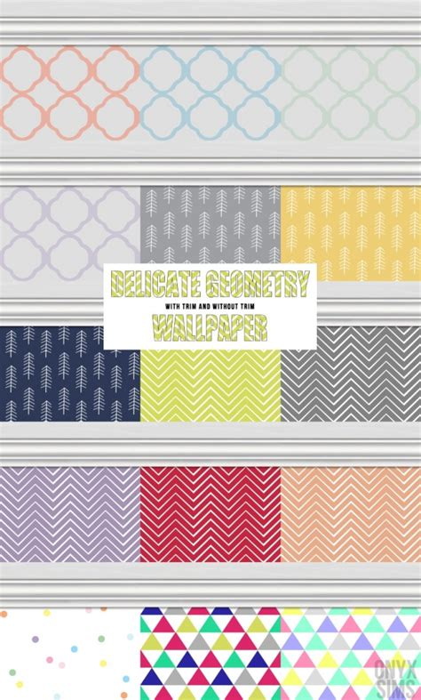delicate geometry wallpapers  onyx sims sims  updates