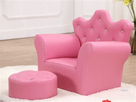 Beanbone Children's Armchair With Footstool Girls Seating