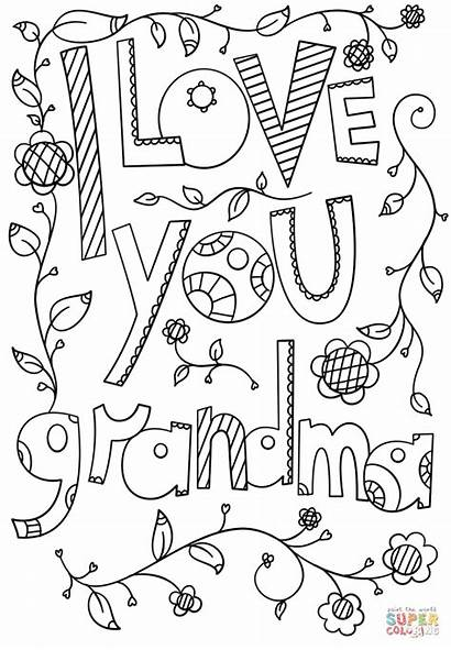 Grandma Coloring Pages Printable Doodle Sheets Mothers