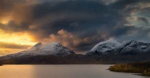 Landscape, Nature, Lake, Mountain, Storm, Snowy, Peak, Clouds, Sunlight, Norway, Wallpapers, Hd