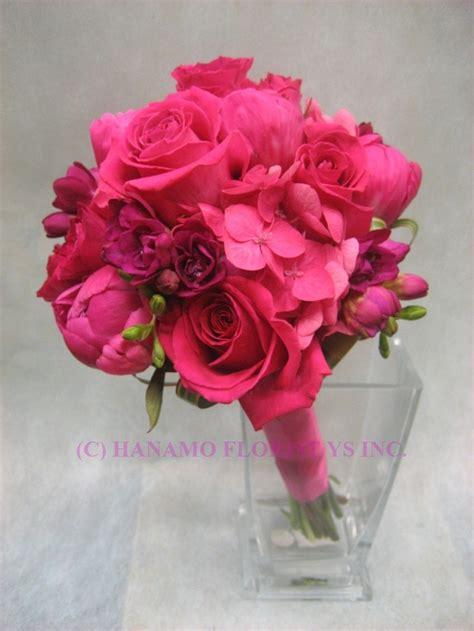 wedb hot pink flowers wedding bouquet wedb