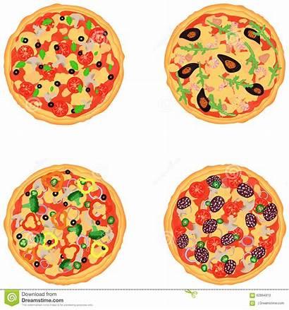 Pizza Different Flavors Pizzas