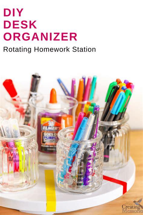 lazy susan desk organizer diy rotating desk organizer for an easy homework station