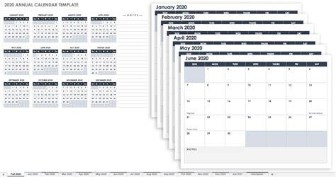 printable excel calendar templates smartsheet