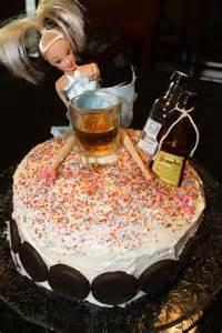 Drunk Barbie Birthday Cake