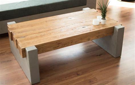 Der Couchtisch Aus Holz by Masstisch15 Couchtisch Holz Beton Mintisch