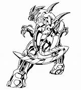 Coloring Bakugan Pages Factory Hero Episodes sketch template