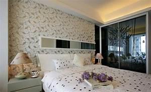 Papier Peint Chambre À Coucher : d co chambre adulte 57 id es fascinantes emprunter ~ Nature-et-papiers.com Idées de Décoration