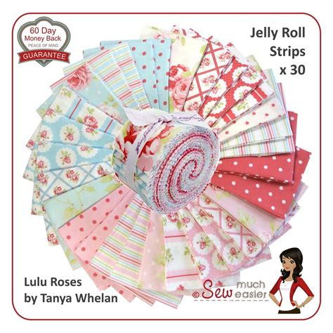 shabby fabric jelly roll tanya whelan lulu roses jelly roll quilt fabric shabby chic vintage floral retro ebay