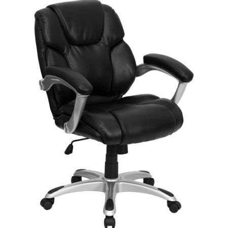 leather mid back office computer chair black walmart