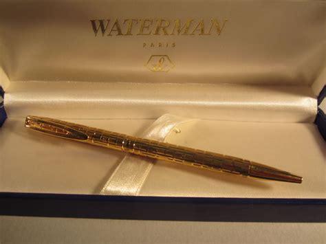 precious vintage waterman ballpoint  gold plated