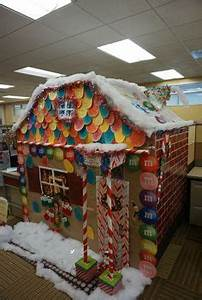 fice cubicle Gingerbread house christmas decorations