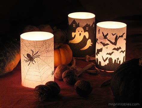 halloween candle holders  printables