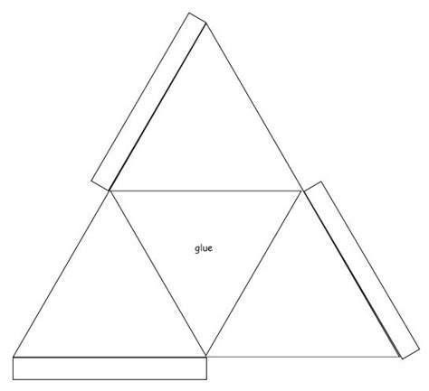 Triangle Template For Kid Craft by 3d Triangle Templates Printable Shapes Crafts