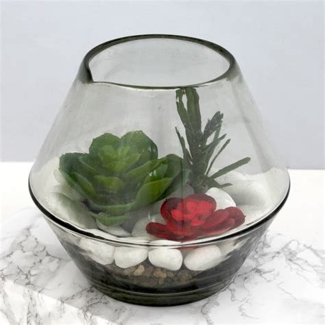 Glass Bowl Vase by Glass Bowl Vase By Posh Totty Designs Interiors