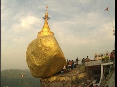 rock golden rock myanmar sd stock video    framepool rightsmith stock footage