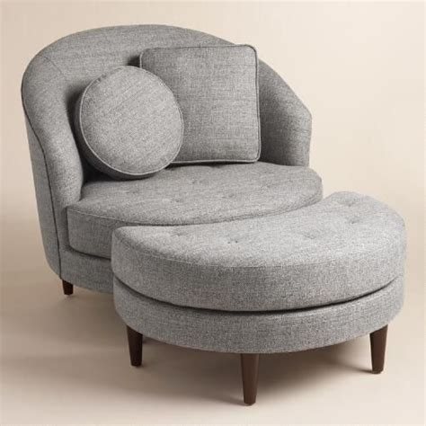 gray armchair with ottoman gray round seren chair and a half receptions furniture